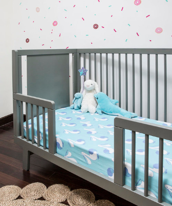 ktd design.: Fitted Cot Sheet with Pelican Print