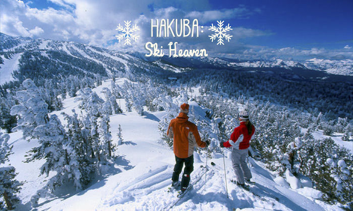 hakuba family skiing - mountain view