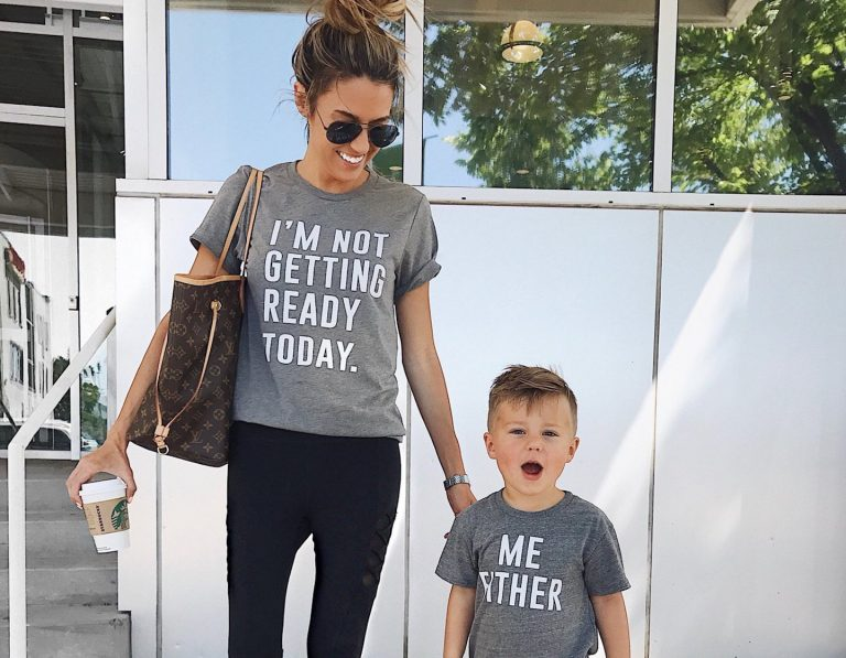 matching mama and me style - mom and son matching
