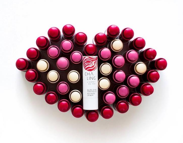 beauty gift guide christmas cha ling red tinted lip balm