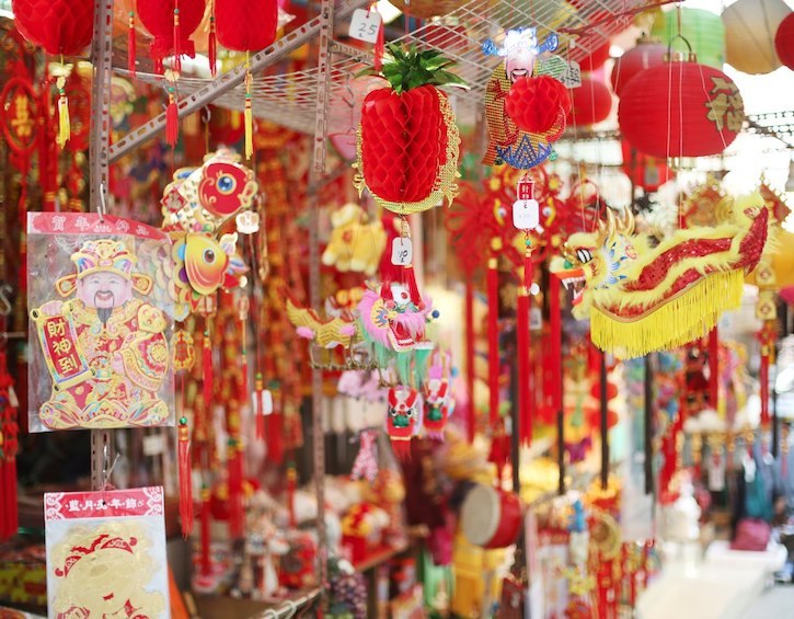 whats on Chinese new year decorations