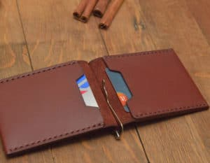 slim leather wallet workshop
