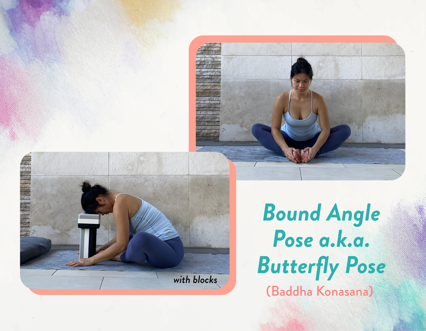 safe prenatal yoga Bound Angle pose